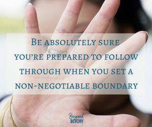 Non-Negotiable Boundary